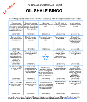 The Checks and Balances Project, Oil Shale Bingo