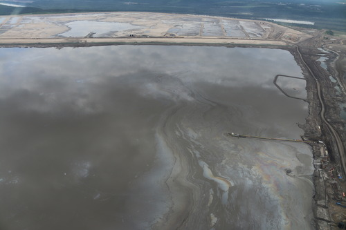 Tar sands tailings pond