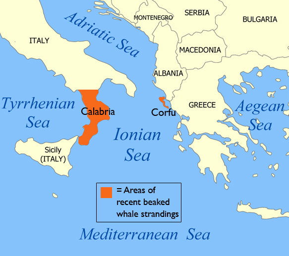 Map of the Ionian Sea area