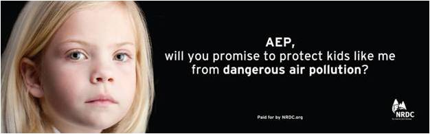 AEP clean air billboard