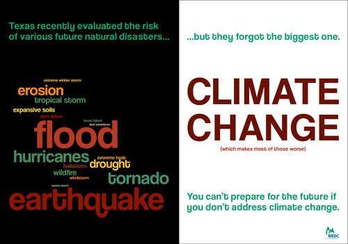 Word cloud of Texas's risk assessment for natural disasters