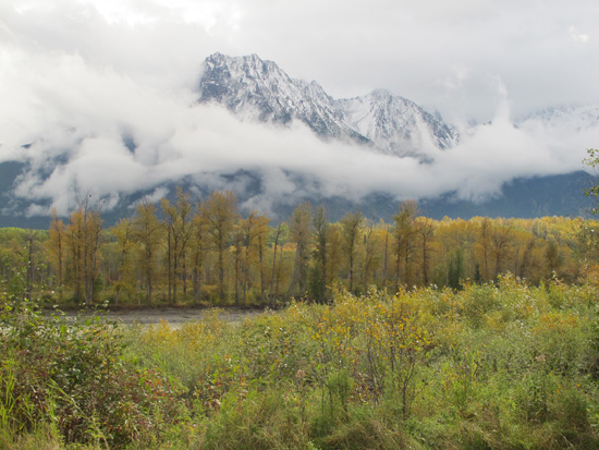 photo of B.C. mountains, september 2011