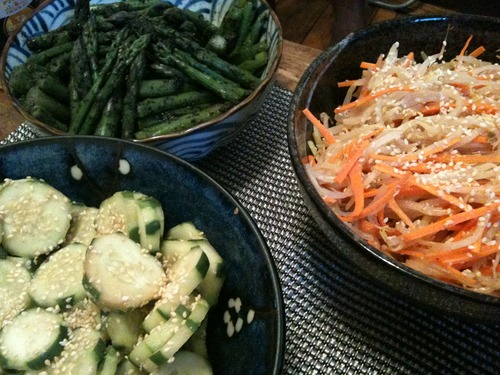 Thumbnail image for FFhitomi- cuke and asparagus salads.JPG