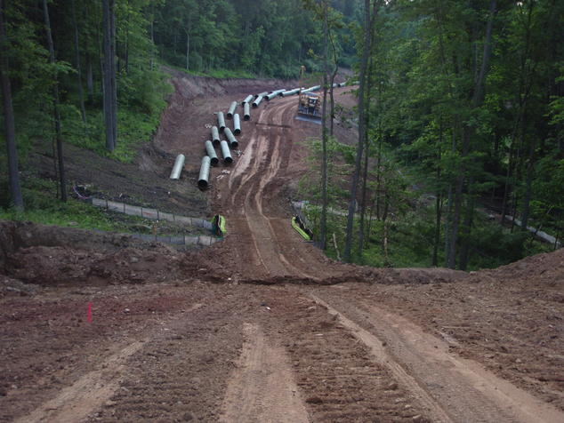 Pipeline Construction Near Stream