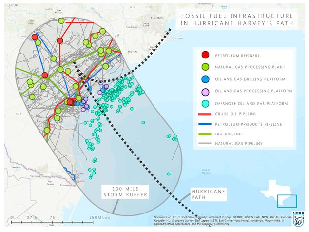 Fossil Fuel Infrastructure in Harvey's Path