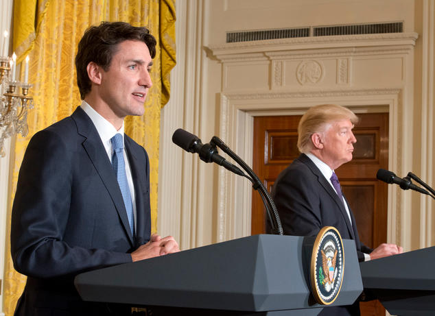 President Donald Trump and Prime Minister Justin Trudeau