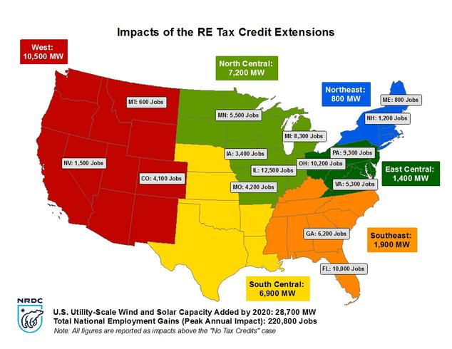 Renewable Energy Tax Credits Will Power Economic Growth NRDC - Us economic regions map