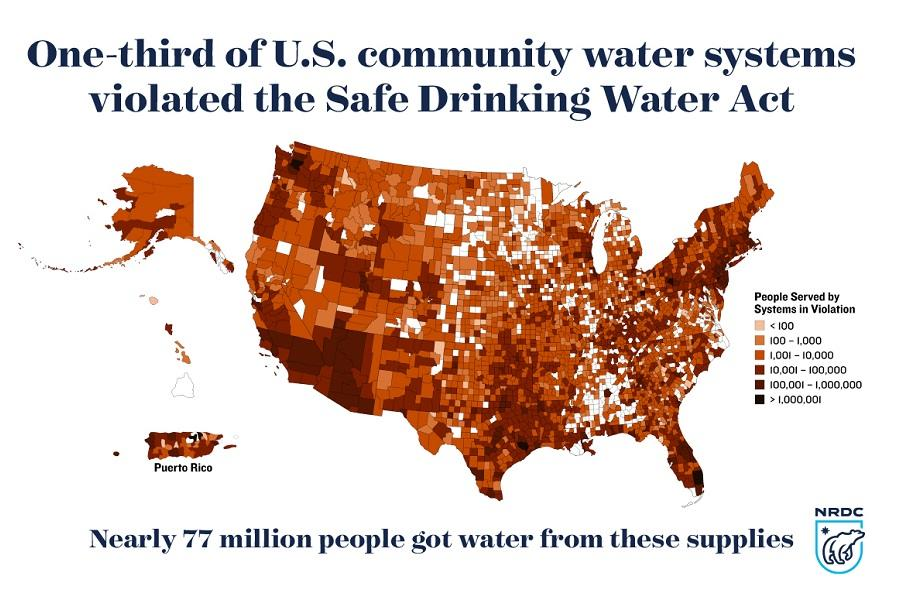 Threats On Tap Widespread Violations Highlight Need For - Drinking water map us