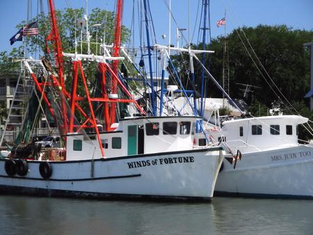 Fishing Boats near Charleston, SC (B. Childress - Own work, CC BY-SA 3.0)