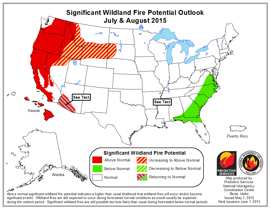 Fearing The Burn NRDC - Us forest fire map