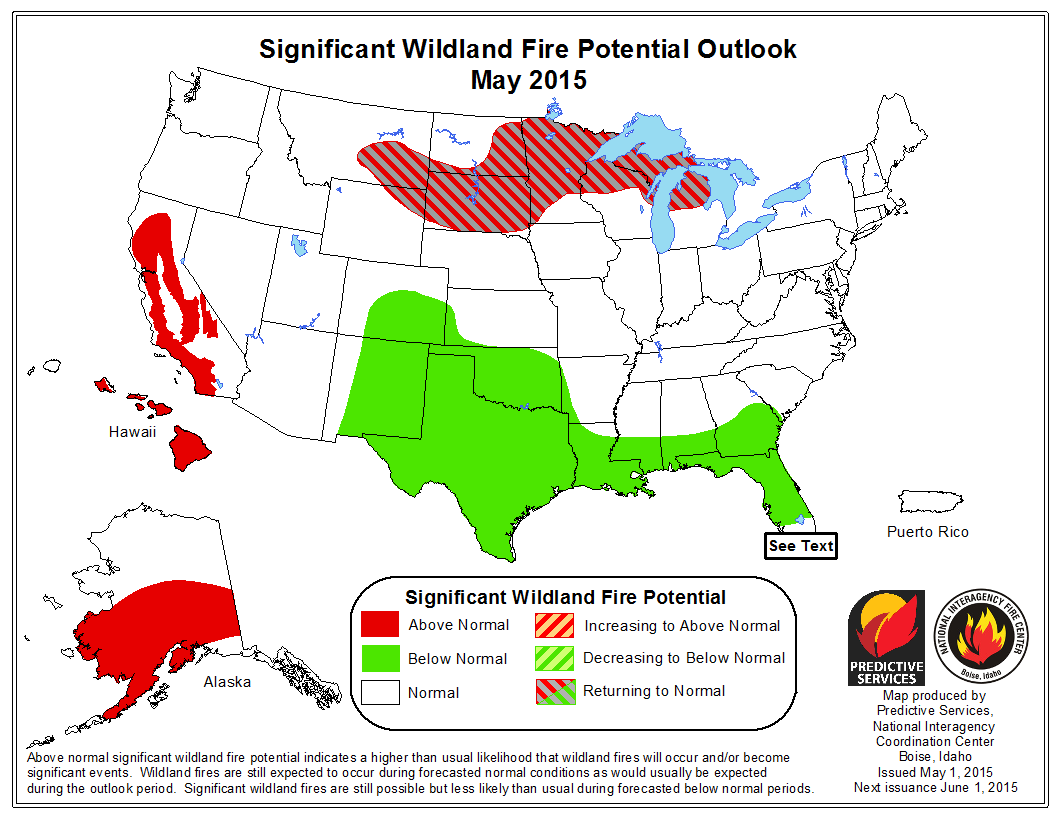 Fearing The Burn NRDC - Us wildland fire potential map